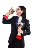 Businessman awarded Royalty Free Stock Photos