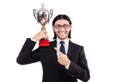 Businessman awarded Stock Photo