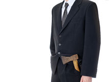 Businessman with axe Stock Image