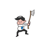 Businessman and axe Stock Photos