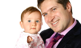 Businessman with baby Royalty Free Stock Photography
