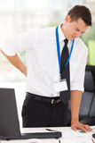 Businessman back pain Royalty Free Stock Images