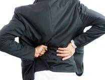 Businessman backache isolate Stock Image