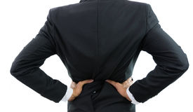 Businessman backache isolate Royalty Free Stock Image