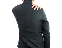 Businessman backache isolate Royalty Free Stock Images