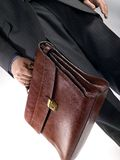 Businessman with bag Royalty Free Stock Images