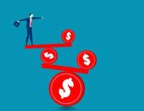 Businessman on the balance Stock Photography
