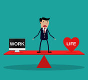 Businessman balance Work and life. Stock Photography