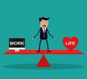 Businessman balance Work and life. Stock Photography