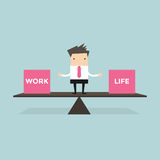 Businessman balance Work and life Royalty Free Stock Photography