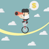 Businessman balancing. Illustration Cartoons concepts Stock Image