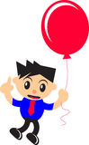 Businessman and balloon Royalty Free Stock Photo