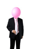 Businessman with balloon Stock Photos
