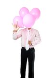 Businessman with balloon Royalty Free Stock Image