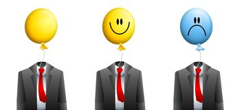 Businessman Balloon Face Stock Images