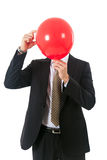 Businessman balloon head Royalty Free Stock Image