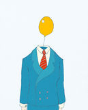 Businessman with balloon head royalty free illustration