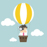 Businessman in balloon Stock Photography