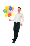 Businessman with balloons Royalty Free Stock Photo