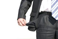 Businessman bankrupt Royalty Free Stock Image