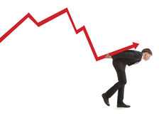 Businessman  bankrupt Stock Images