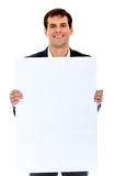 Businessman - banner ad Stock Image