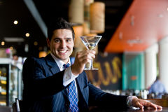 Businessman In Bar Stock Photo