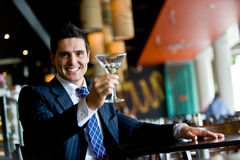 Businessman In Bar Stock Photos