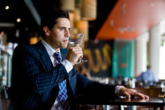 Businessman In Bar Stock Images