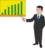 Businessman with Bar Chart Royalty Free Stock Images