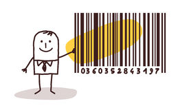 Businessman and bar code Stock Photo