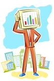 Businessman with bar graph Royalty Free Stock Images