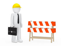 Businessman barrier Royalty Free Stock Photo