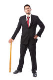 Businessman with baseball bat Royalty Free Stock Image