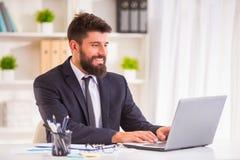 Businessman with beard Stock Photography