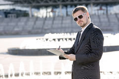The businessman with a beard Stock Photo