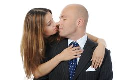Businessman with a beautiful woman Royalty Free Stock Photography