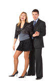 Businessman and beauty girl Royalty Free Stock Photo