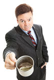 Businessman Begging for Change Royalty Free Stock Image
