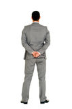Businessman behind. In white background Stock Photography