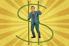 Businessman behind bars money Royalty Free Stock Image