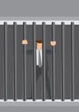 Businessman Behind Bars Vector Cartoon Illustration Stock Photos