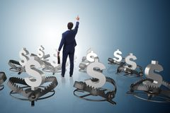 The businessman being trapped by dollar Stock Images