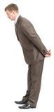 Businessman bending forward Stock Image