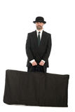 Businessman with a big bag. Stock Photo