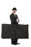 Businessman with a big bag Royalty Free Stock Image