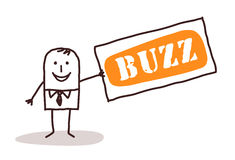 Businessman and big buzz. Illustration Stock Photography