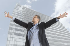Businessman and big city Stock Photography