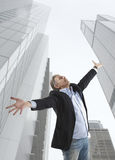 Businessman and big city Stock Photos