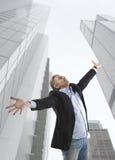 Businessman and big city Stock Photos